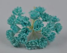 SEA BLUE GREEN GYPSOPHILA / FORGET ME NOT Mulberry Paper Flowers (2)